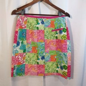 Lilly Pulitzer Skirts - Lily Pulitzer patchwork skirt. Sz 2